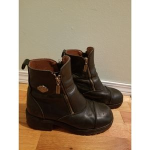💯% Authentic Harley Davidson leather moto boots